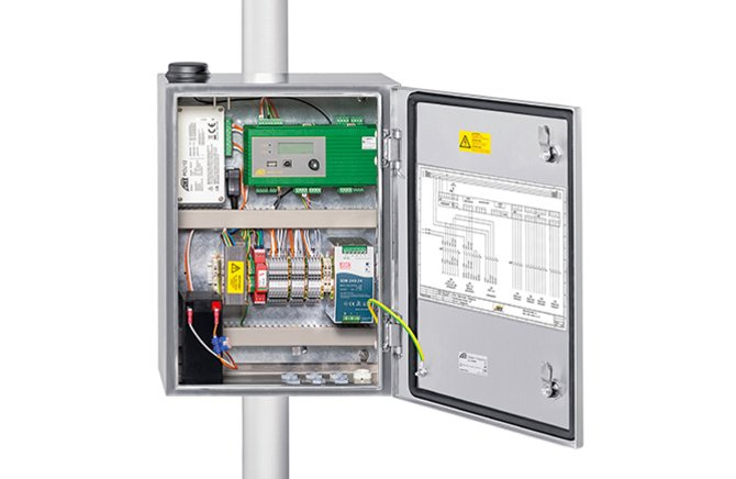 The Rugged Lockable Control Cabinet Of The OTT MetSystems Is Designed For  Automatic Meteorological Stations. It Is Equipped With Components For Power  Supply ...
